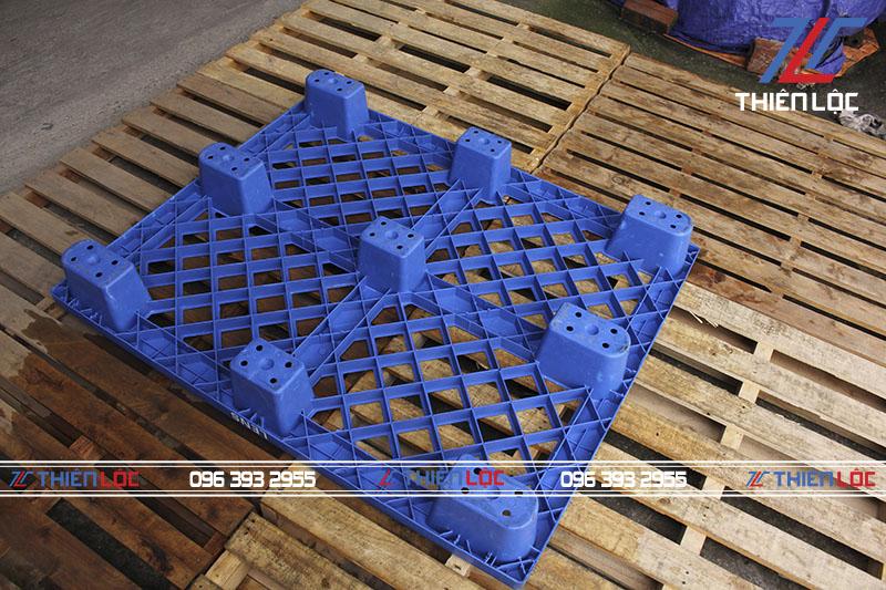 Pallet nhựa kệ cốc blue 1200x1000x145