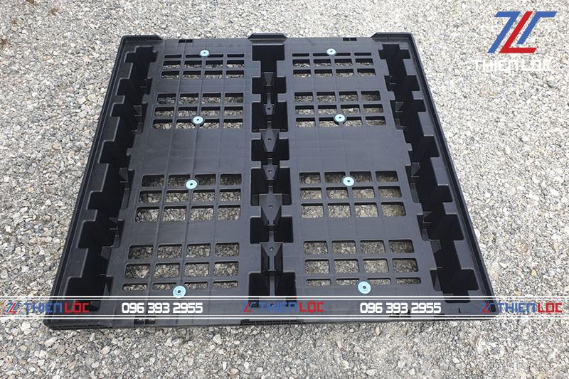 Pallet bộ đựng link kiện rời black 1100x1100x150