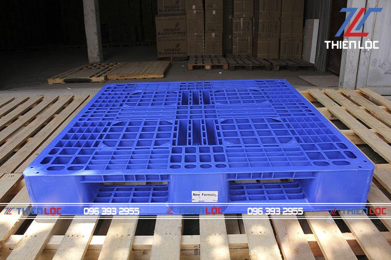 Pallet nhựa blue 1100x1100x150mm