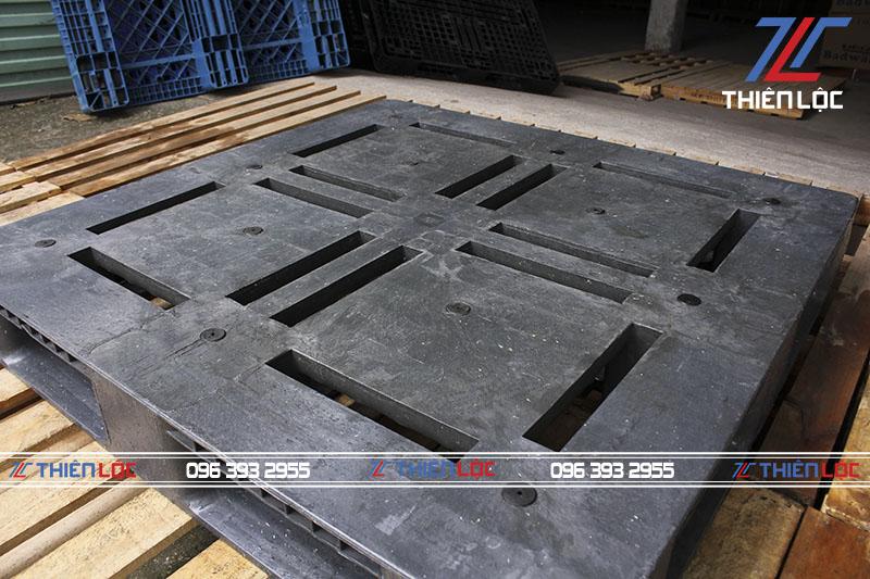 Pallet nhựa mặt đá Nhật Bản 1100x1100x150