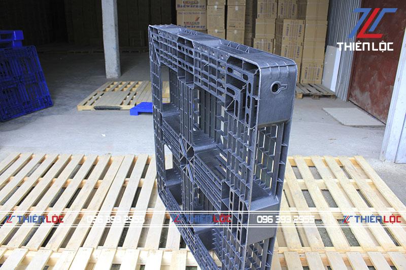 Pallet nhựa PL1125T Black 1100x1100x125