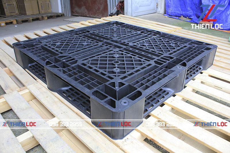 Pallet nhựa PL1150T Black 1100x1100x150