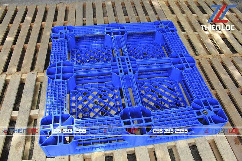 Pallet nhựa PL1150T Blue 1100x1100x150