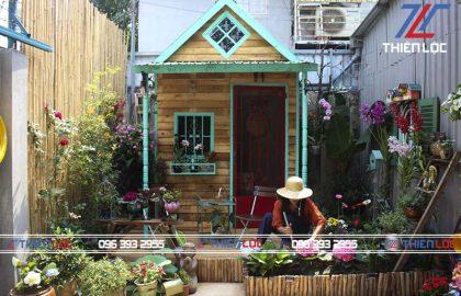 tạo khu vườn mini bằng pallet